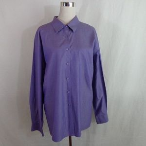 Foxcroft Purple Shirt Blouse 20W Wrinkle Free